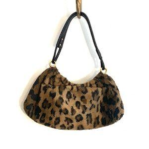 [Kate Spade] Faux Leopard Fur Hobo Bag